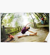 Yoga in the nature with kids Poster