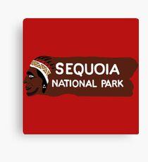 Sequoia National Park Entrance Sign, California, USA Canvas Print