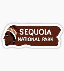 Pegatina Sequoia National Park Entrance Sign, California, Estados Unidos