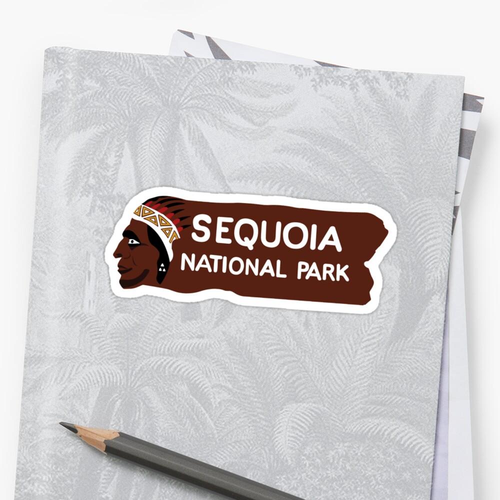Sequoia-Nationalpark-Eingangs-Zeichen, Kalifornien, USA Sticker
