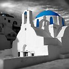 'Blue Domes' - Greek Orthodox Churches of the Greek Cyclades Islands - 2 by Paul Williams