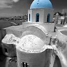 'Blue Domes' - Greek Orthodox Churches of the Greek Cyclades Islands - 6 by Paul Williams
