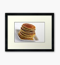 Stack of pancakes with syrup Framed Print