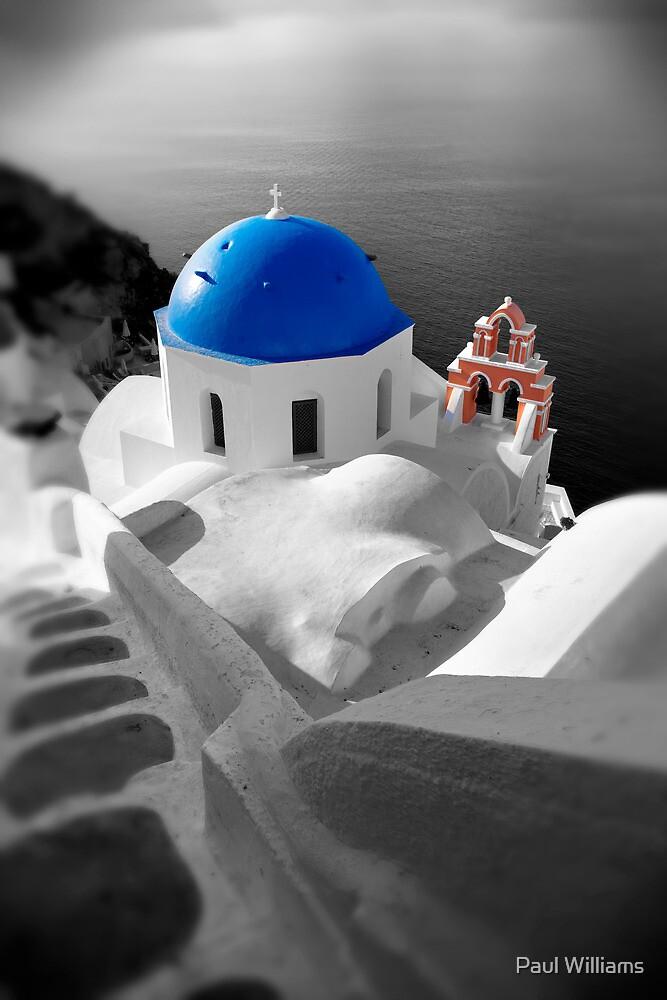 'Blue Domes' - Greek Orthodox Churches of the Greek Cyclades Islands - 10 by Paul Williams