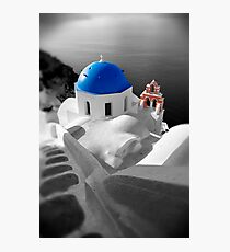 'Blue Domes' - Greek Orthodox Churches of the Greek Cyclades Islands - 10 Photographic Print