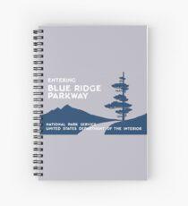 Blue Ridge Parkway Sign, VA & NC, USA Spiral Notebook