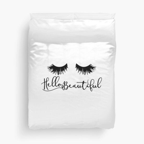Hello Beautiful - Eyelash Print Duvet Cover