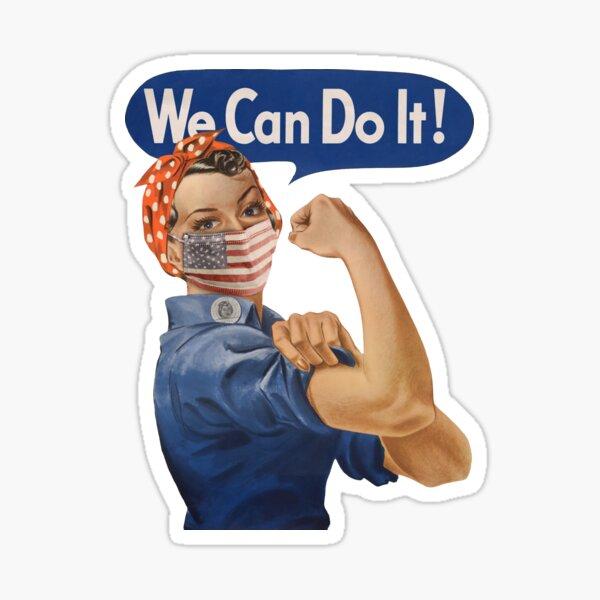 We Can Do It! Rosie the Riveter Coronavirus 2020 Sticker