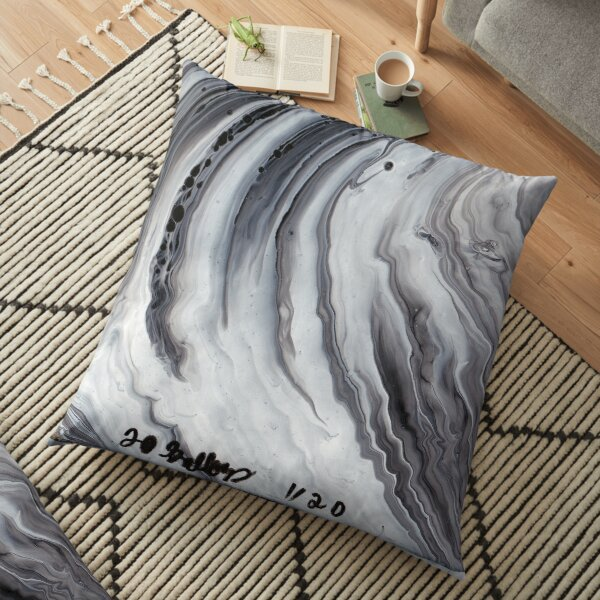 Waves on The Moon Floor Pillow