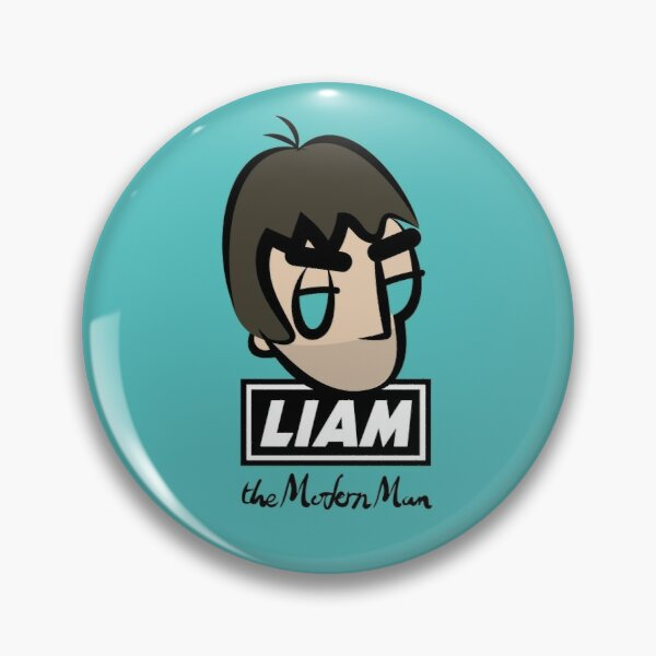 LG - The Modern Man - Cartoon LGv1 (Head w/ Logo) Pin
