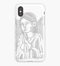 Praying Angel in Words iPhone Case/Skin