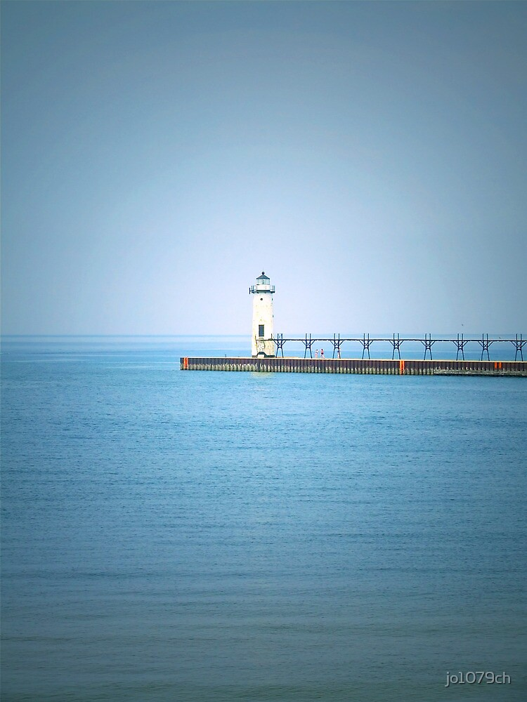 Manistee North Pierhead Lighthouse by jo1079ch