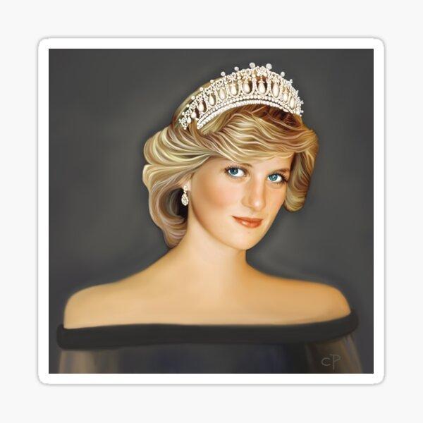 Princess Diana 20 Years Later Mixed Media Sticker By Michaelroman Redbubble