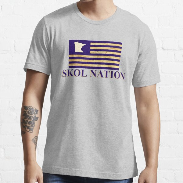 Skol Nation Woodgrain Flag Essential T-Shirt