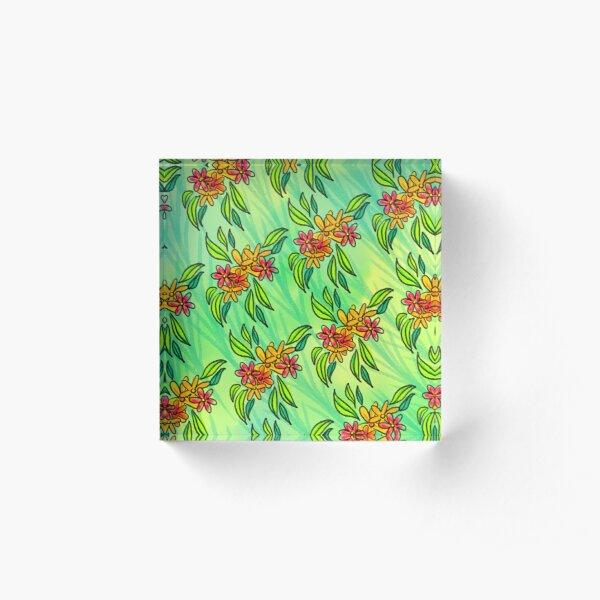 Tropical Spring Acrylic Block