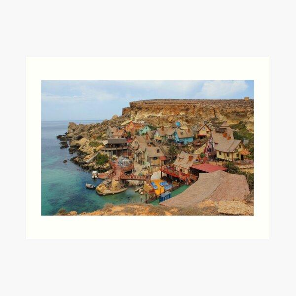 Popeye Village, Malta Art Print