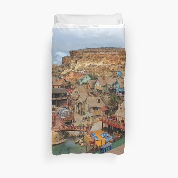 Popeye Village, Malta Duvet Cover