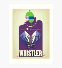 """""""Vollmond"""" Whistler, BC-Reise-Plakat Kunstdruck"""