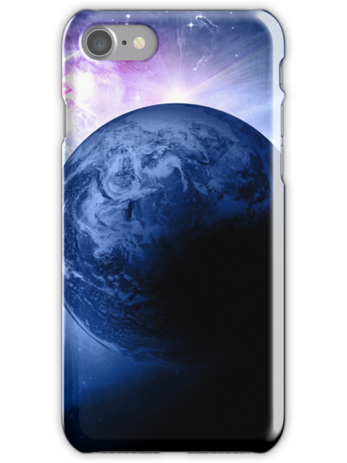 Earth and Nebula iPhone and iPad Case by robbclarke