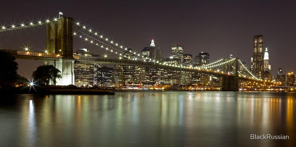 Brooklyn Bridge at Night Panorama 1 by BlackRussian