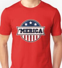 'MERICA T-Shirt. America. Jesus. Freedom. - The Campaign Unisex T-Shirt