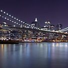 Brooklyn Bridge at Night Panorama 3 by BlackRussian