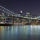 Brooklyn Bridge at Night Panorama 5 by BlackRussian