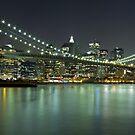 Brooklyn Bridge at Night Panorama 6 by BlackRussian