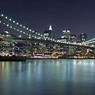 Brooklyn Bridge at Night Panorama 7 by BlackRussian
