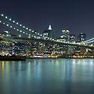 Brooklyn Bridge at Night Panorama 8 by BlackRussian