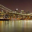 Brooklyn Bridge at Night Panorama 9 by BlackRussian