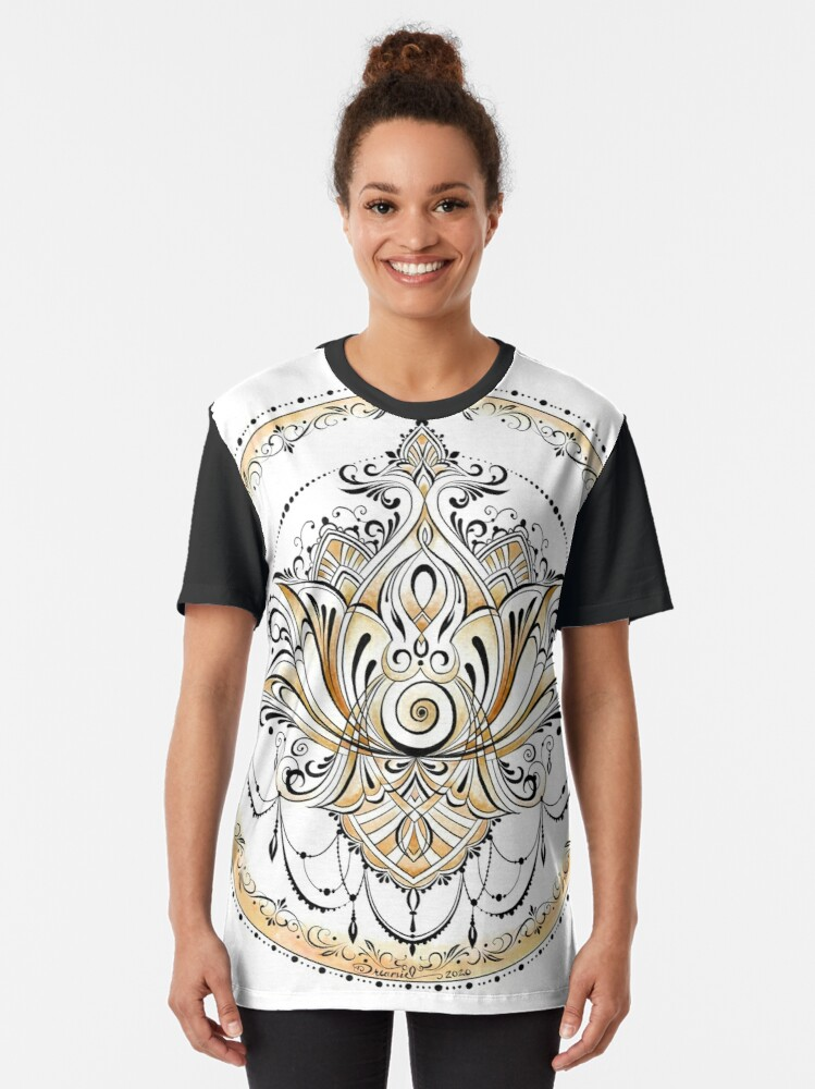 Alternate view of Goddess Lotus Graphic T-Shirt