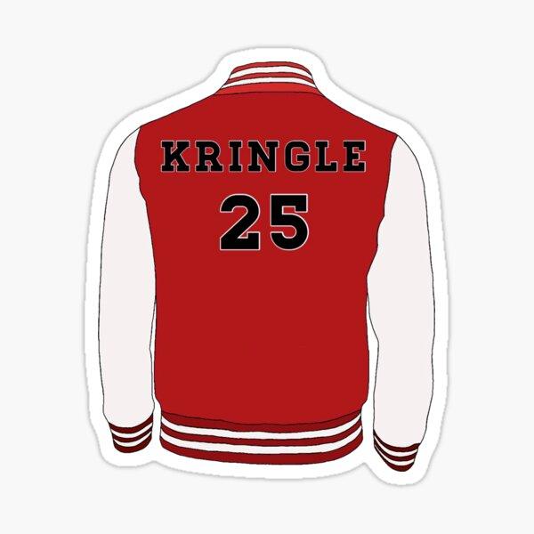 Kris Kringle Varsity Jacket - Black Friday Sticker
