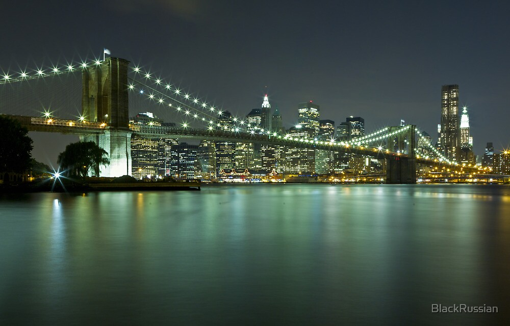Brooklyn Bridge at Night 8 by BlackRussian
