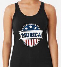 'MURICA T-Shirt. America. Jesus. Freedom. - The Campaign Racerback Tank Top