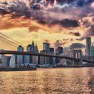 Brooklyn Bridge at Sunset by BlackRussian
