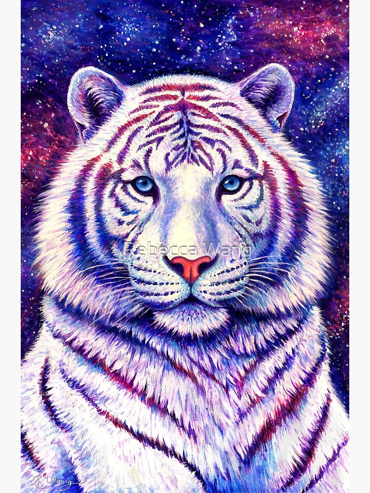 Among the Stars - Cosmic White Tiger by lioncrusher
