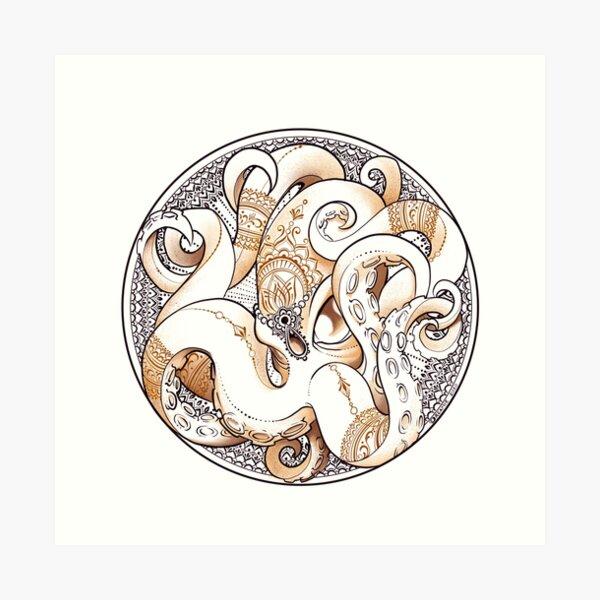 Mehndi Octopus Art Print