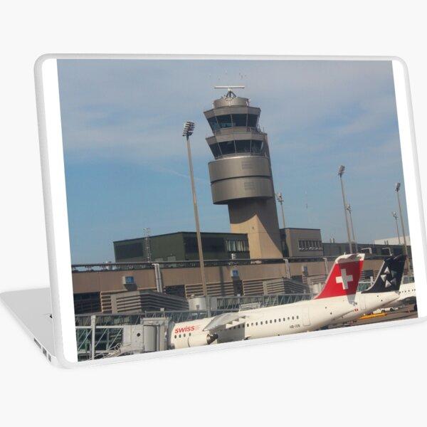Flight from Malta to Zurich Laptop Skin