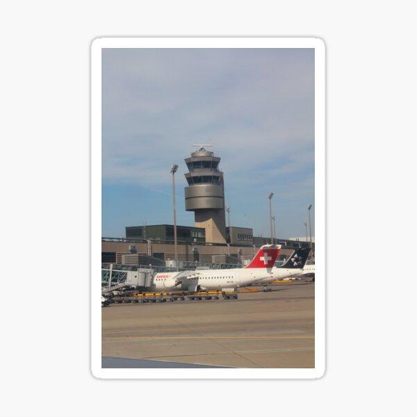 Flight from Malta to Zurich Sticker