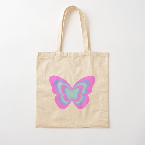 layered butterfly Cotton Tote Bag