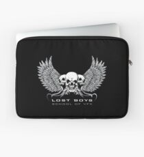 Lost Boys School of VFX: White Text Graphic Laptop Sleeve
