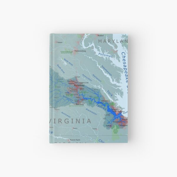 James River watershed map Hardcover Journal