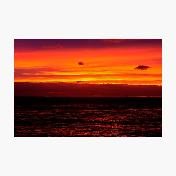 FIRE BY THE SEA Photographic Print
