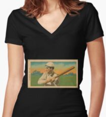 Benjamin K Edwards Collection Harry Pattee Brooklyn Superbas baseball card portrait Women's Fitted V-Neck T-Shirt