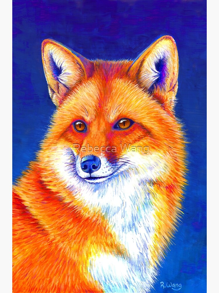 Vibrant Flame - Colorful Red Fox by lioncrusher