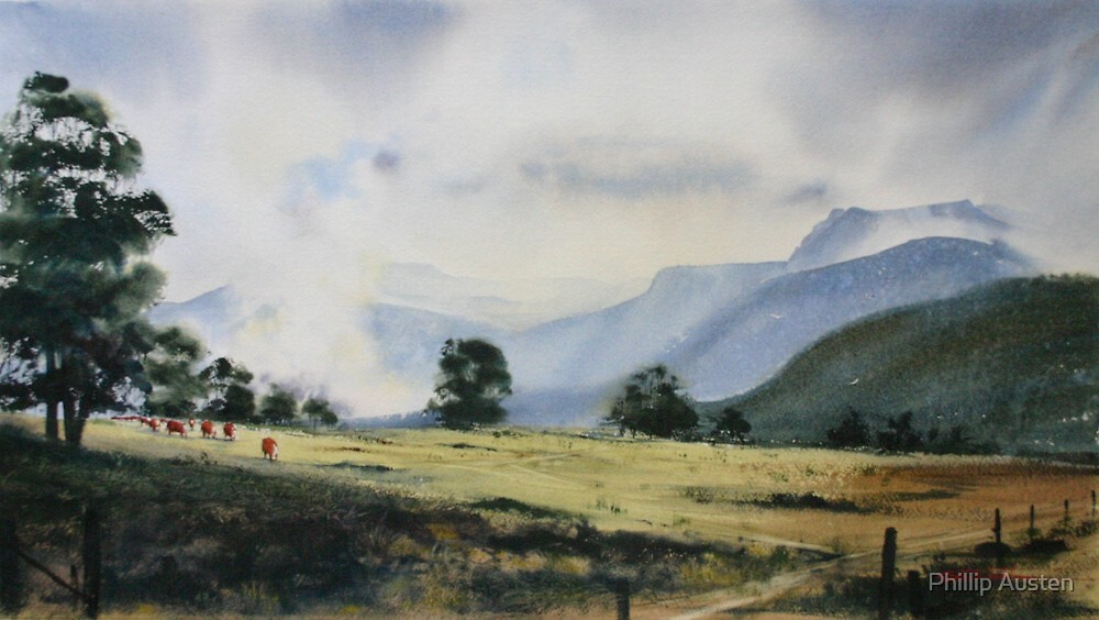 On the Edge of the Valley - Mountains Abound by Phillip Austen
