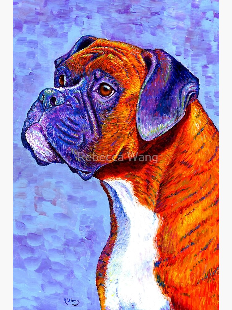 Devoted Guardian - Colorful Brindle Boxer Dog by lioncrusher