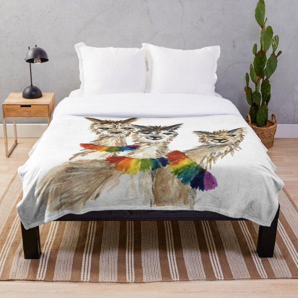 Chakra Alpacas Throw Blanket