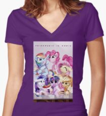 FIM Women's Fitted V-Neck T-Shirt